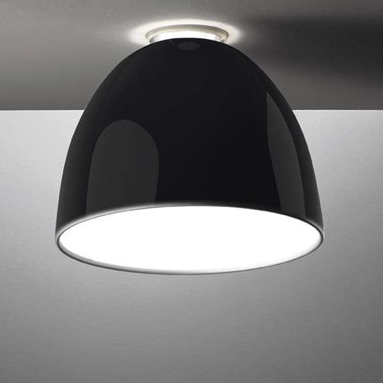 Artemide Nur Mini Gloss LED Soffitto - schwarz glänzend.
