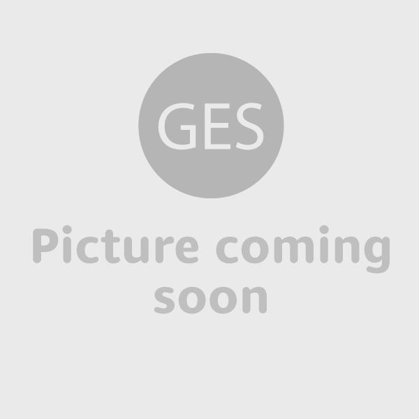 Radius Wall Flame I - polierter Edelstahl, Korpus schwarz,  Glas kla