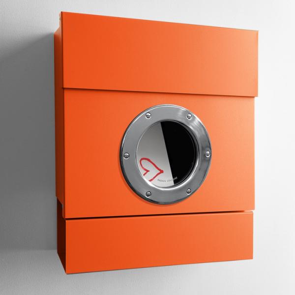 Letterman II - Stahl orange gepulvert